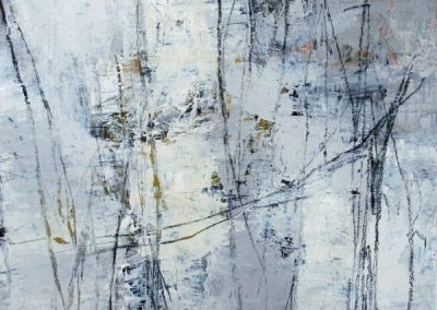 """River Trail II<br> 22"""" X 15"""" Mixed Media on Paper"""
