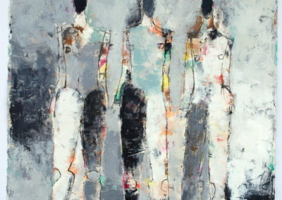 "Three Figure Study No. 29<br>30"" X 22"" Mixed Media on Paper"