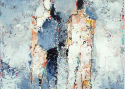 "Two Figure Study No. 31<br>30"" X 22""  Mixed Media on Paper"