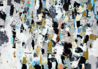 "Crowdscape II<br> 60"" X 48"" Acrylic on Canvas"
