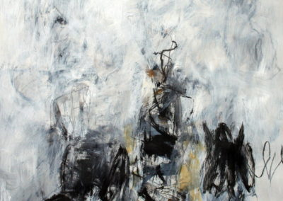 """Black and White No. 8<br> 40"""" X 30"""", Mixed Media on Paper"""