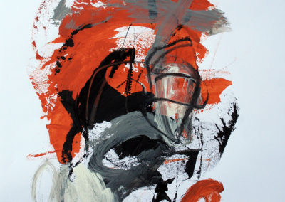 """Rust and Black No. 1<br>24"""" X 18"""", Mixed Media on Paper"""