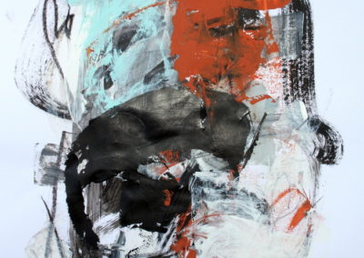 """Rust and Black No. 3<br> 24"""" X 18"""" Mixed Media on Paper"""