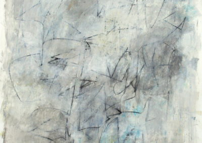 "Composition with Gray in Thomaston<br>50"" X 38"", Mixed Media on Paper"