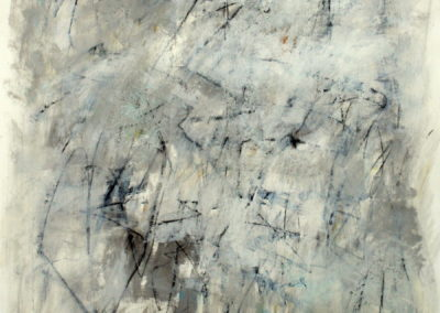 "Composition with Gray in Thomaston II<br>50"" X 38"", Mixed Media on Paper"