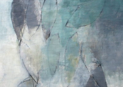 """Safe Harbor<br>60"""" X 45"""", Mixed Media on Paper"""