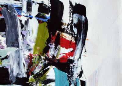 """Composition with Black and Teal No. 3<br> 12.25"""" X 9.5"""" Acrylic on Paper"""