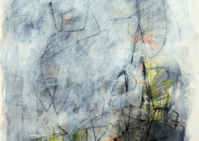 """Composition with Yellow and Orange III<br> 30"""" X 22"""" Mixed Media on Paper"""