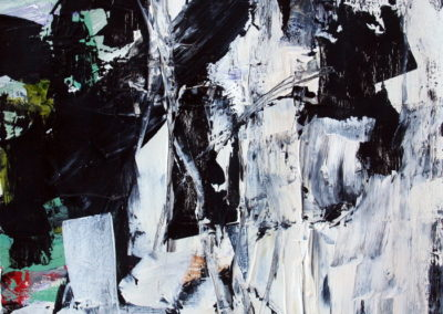 """Landscape with Black 14<br> 12.25"""" X 9.5"""" Mixed Media on Paper"""