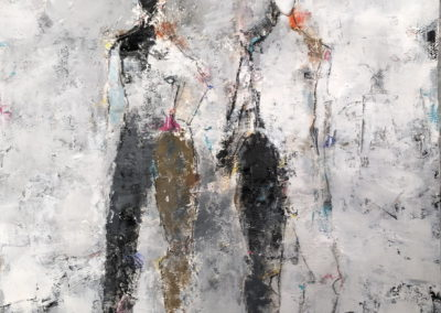 "Two Figure Study No. 33<br> 30"" X 22"" Mixed Media on Paper"