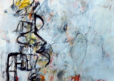 """I Do<br>58"""" X 46.5"""" Mixed Media on Canvas"""