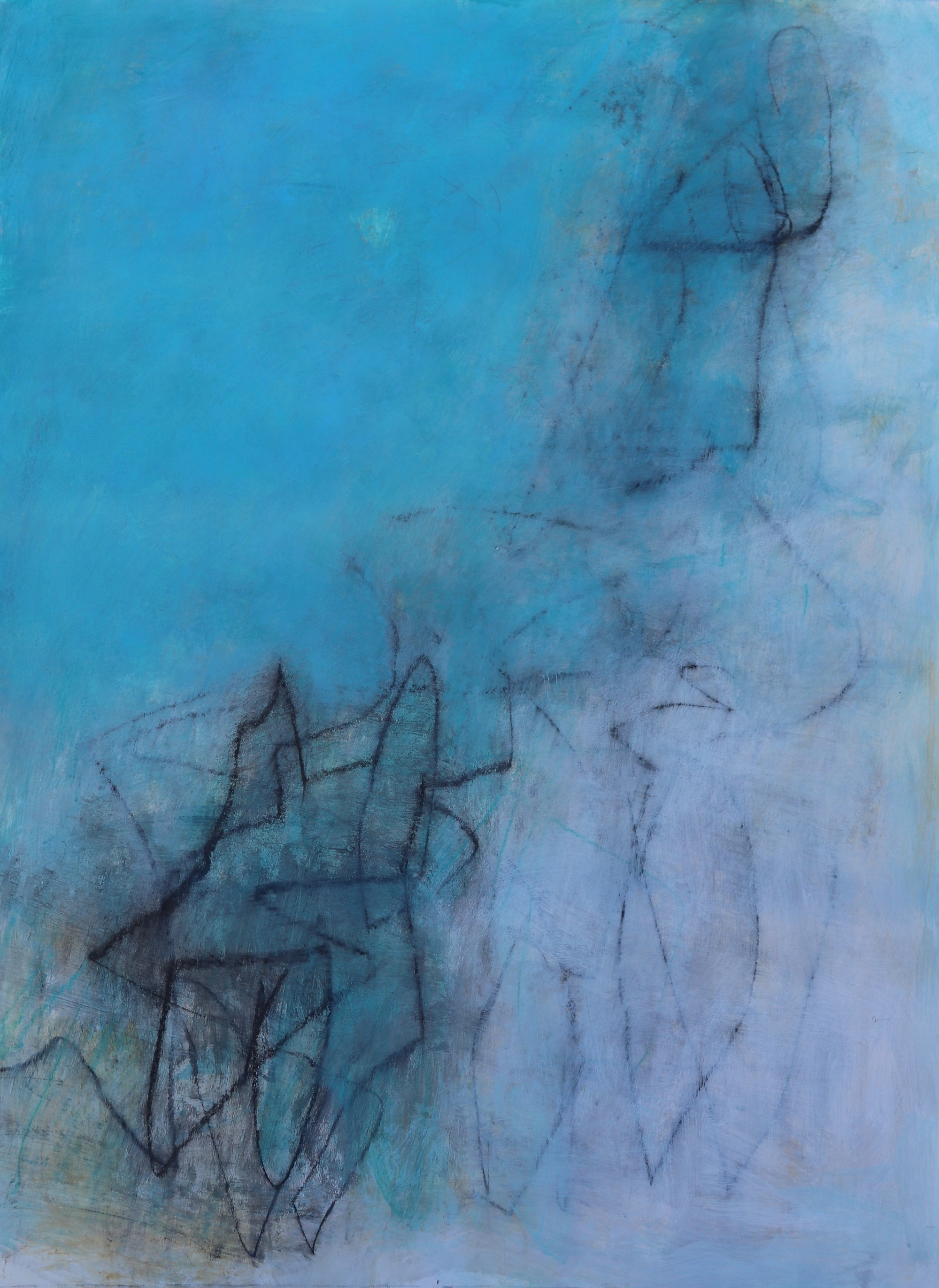 Julie Schumer Abstract Landscape blue Study 1