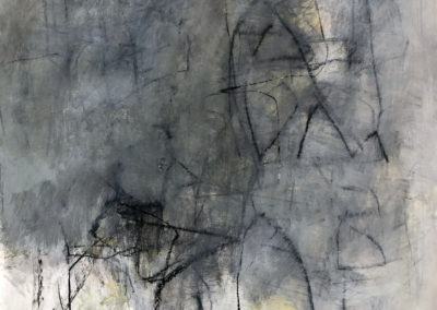 "Gray Study No. 1<br>39"" X 30"" Mixed Media on Paper"