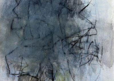 "Gray Study No. 2<br>39"" X 30"" Mixed Media on Paper"