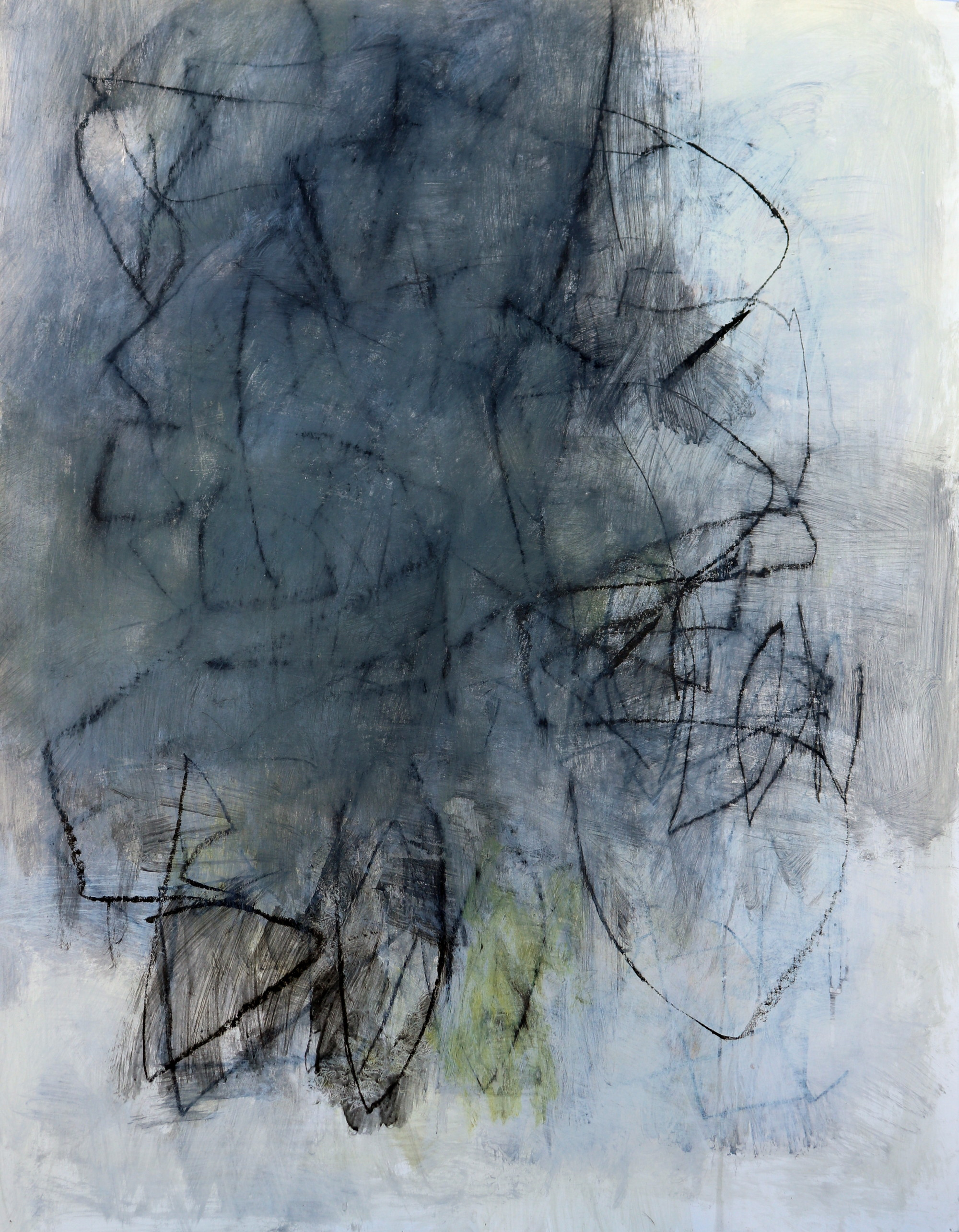 Julie Schumer Abstract Landscape Gray Study 2