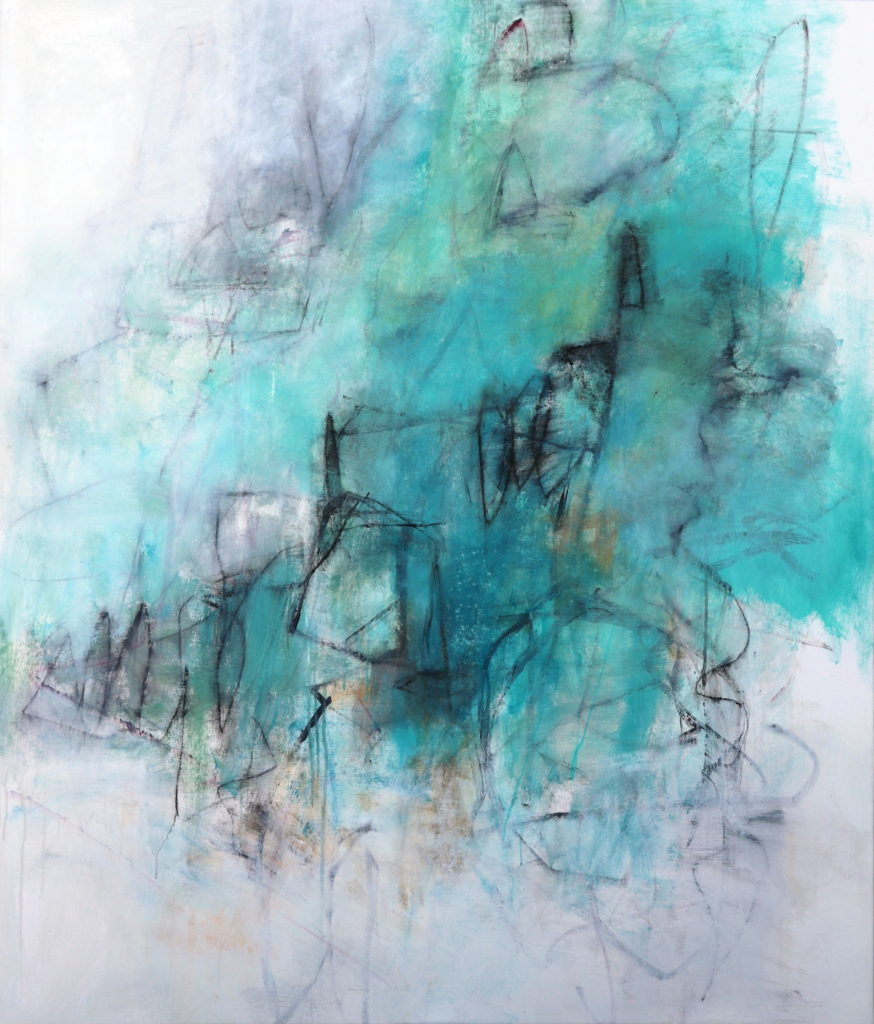 Julie Schumer Abstract Landscape Holding My Own
