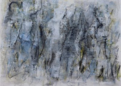 "Emergence of Blue<br/>38"" X 50"", Mixed Media on Paper"