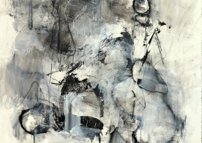 """Shapeshifting<br/>44"""" X 30"""", Mixed Media on Paper"""