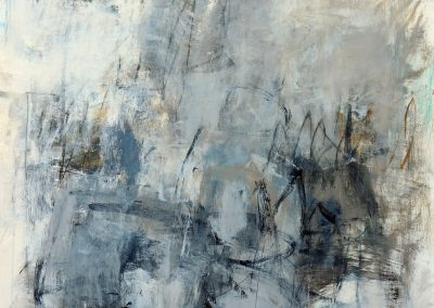 """Between<br> 46.5"""" X 38"""" Mixed Media on Paper"""