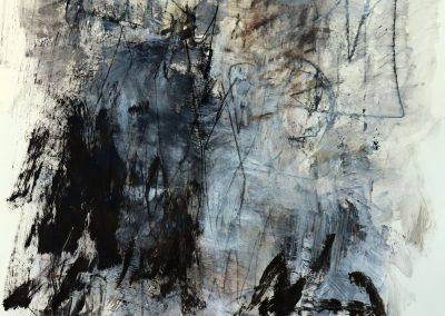 """Breathe In<br> 50"""" X 38"""" Mixed Media on Paper"""