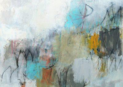 """Stillness<br> 60"""" X 48"""" Mixed Media on Canvas"""