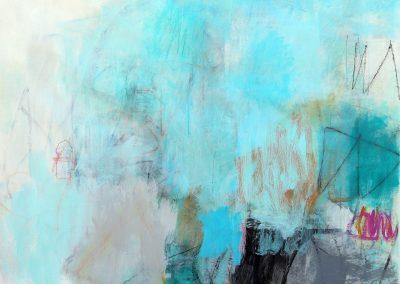 """Coastal Rhythms II<br>55"""" X 45"""" Mixed Media on Canvas"""