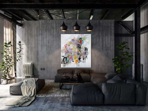Bright Abstract in Converted Warehouse