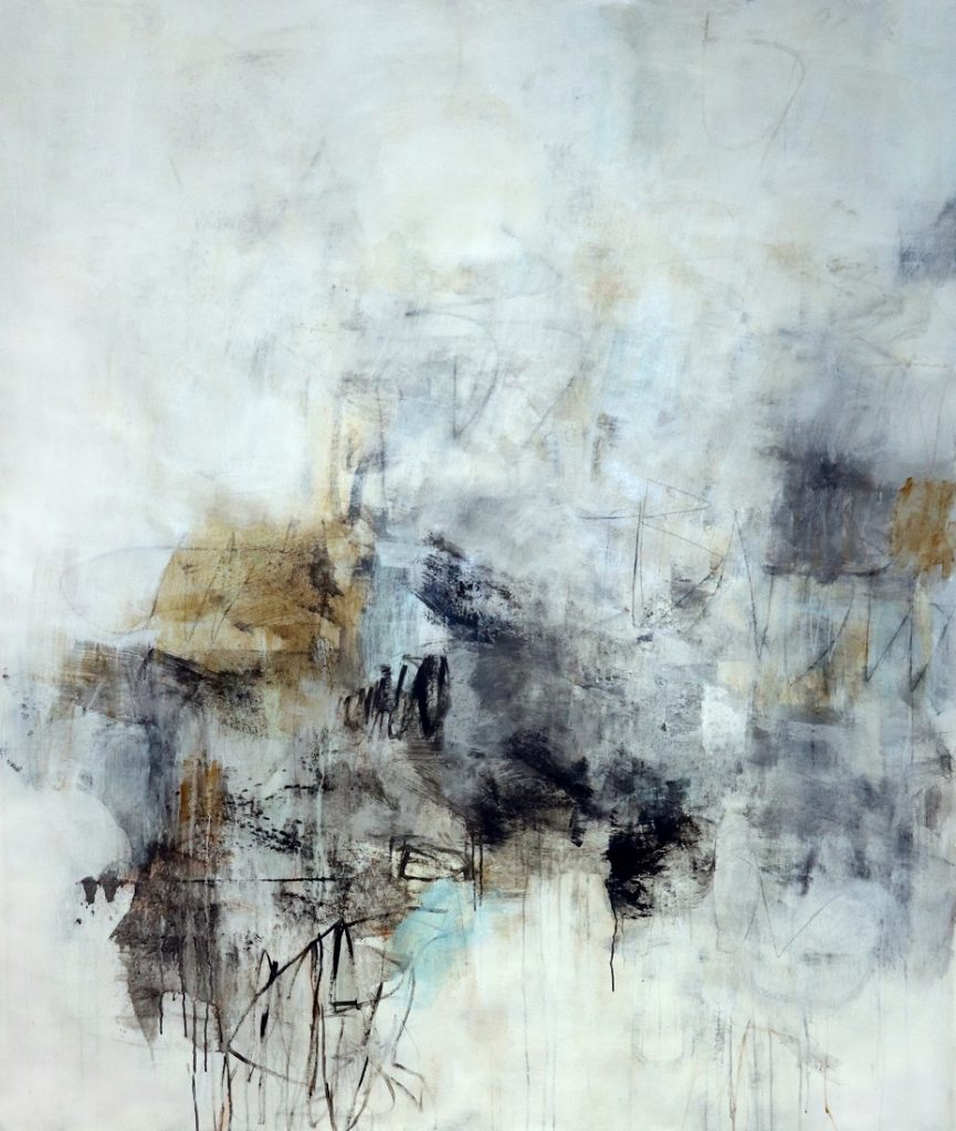 Dreamscape II abstract painting by Julie Schumer