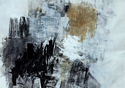 """Winter's End<br> 54"""" X 43"""" Mixed Media on Canvas"""