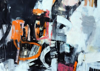 """Turning on the Light<br> 66"""" X 55"""" Mixed Media on Canvas"""