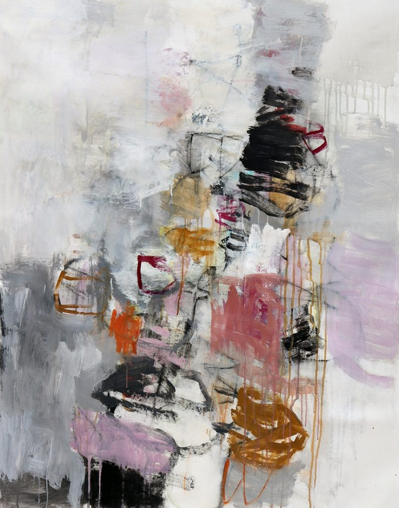 julie schumer Wandering I, 46 X 36, mixed media canvas