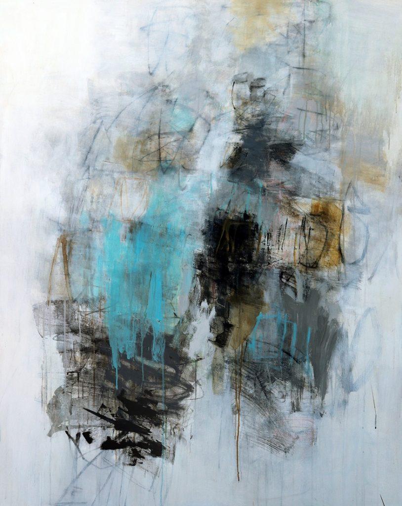Winter Light 58 X 46, mixed media canvas