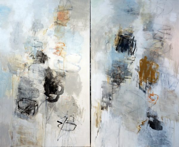 Julie Schumer Between Earth and Sky I, 72 X 60, mixed media canvas