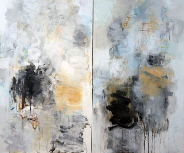 Julie Schumer Between Earth and Sky II, 60 X 72, mixed media on canvas