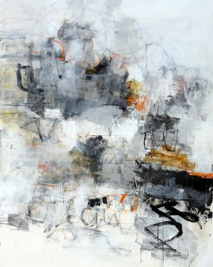 Julie Schumer Breaking Light, 58 X 46, mixed media canvas