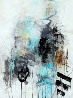 Julie Schumer Into the Mist II, 46 X 36, mixed media canvas