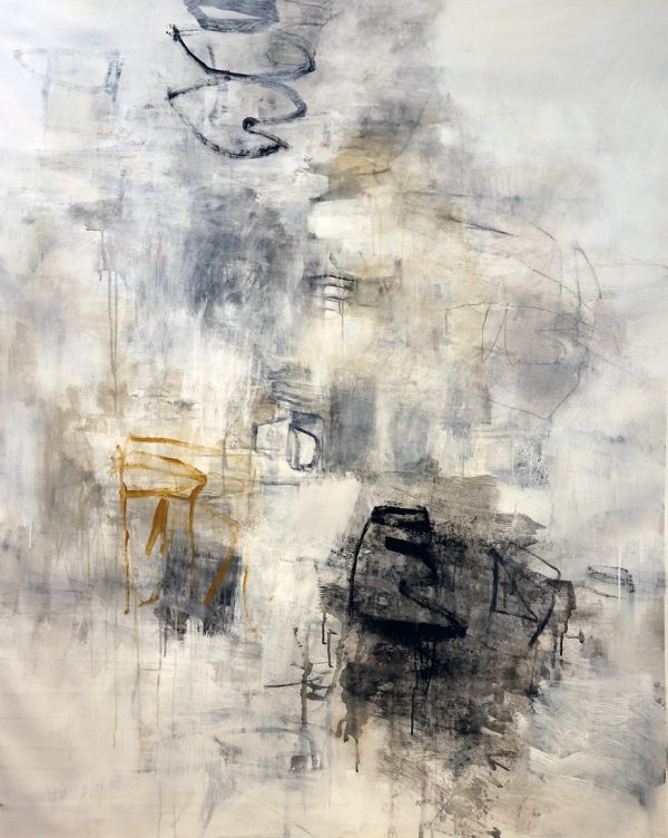 Julie Schumer This Moment, 58 X 46, mixed media canvas