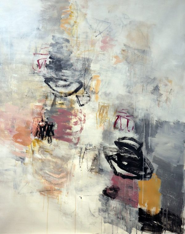 Julie Schumer Under the Full Moon, 58 X 46, mixed media canvas