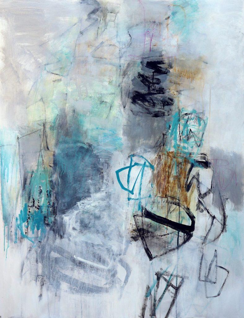 Julie SchumerInto the Mist, 46 X 36, mixed media canvas