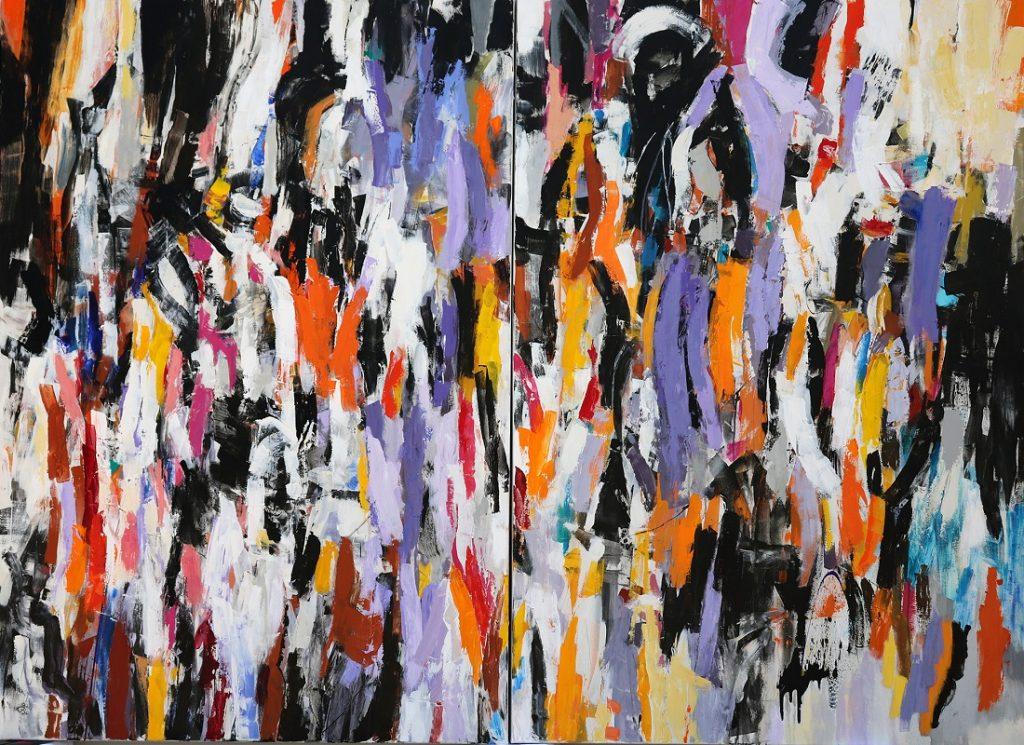 Julie Schumer abstract art Crowdscape III