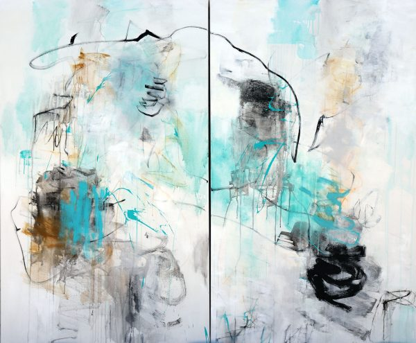 julie schumer waters edge abstract painting