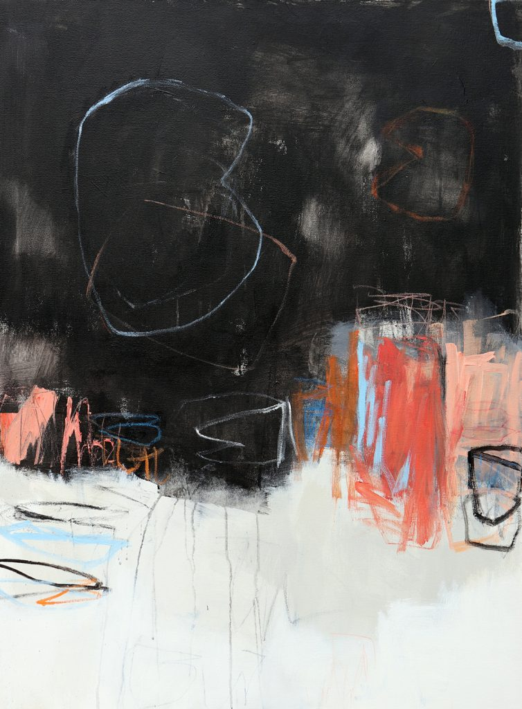 julie schumer abstract dialogue with black xi