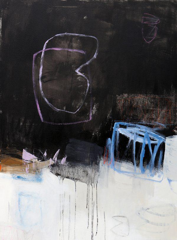 Julie Schumer Dialogue with Black IX, 40 X 30
