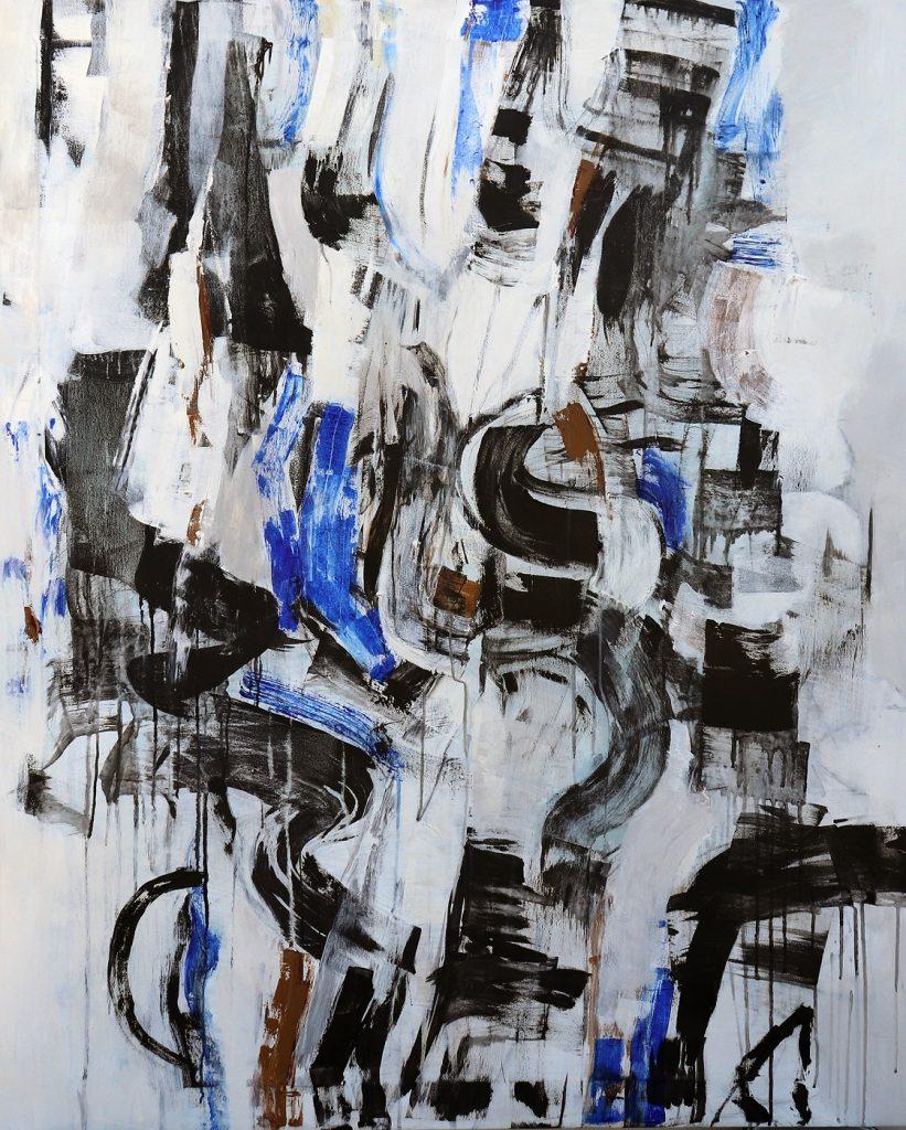 Julie Schumer Embrace II, 54 X 44, acrylic canvas